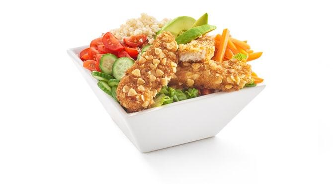 Valess Salat Bowl mit Valess Crispy Sticks