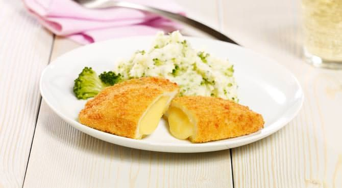 Valess Valess Gouda mit Kartoffel-Brokkolistampf