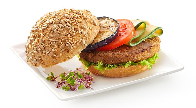 Valess Valess Burger mit gebratenem Gemüse