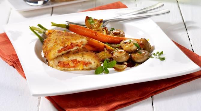 Valess Valess Tomate & Mozzarella und Antipasti-Salat mit Möhren und Champignons