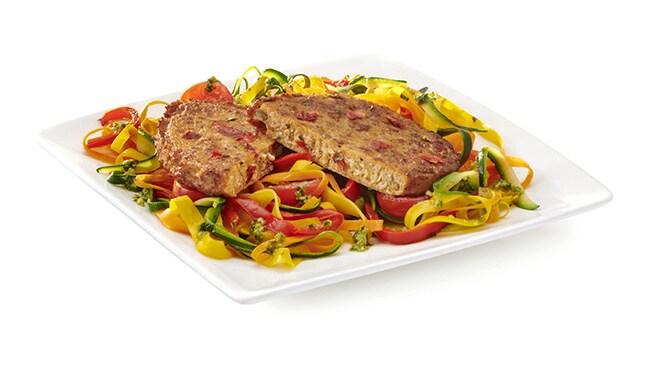 Valess Valess Veggie & Herbs mit bunten Gemüse-Linguine und Pesto