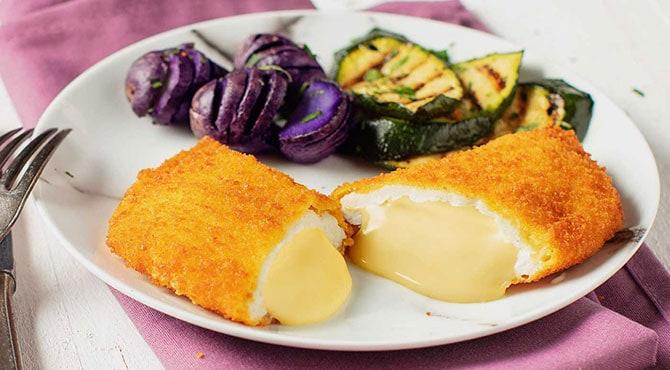 Valess Valess Gouda mit Fächerkartoffeln und Ofengemüse