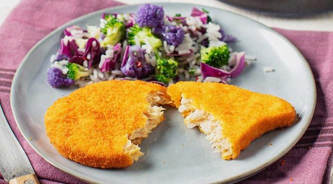 Valess Valess Schnitzel mit warmem Reissalat