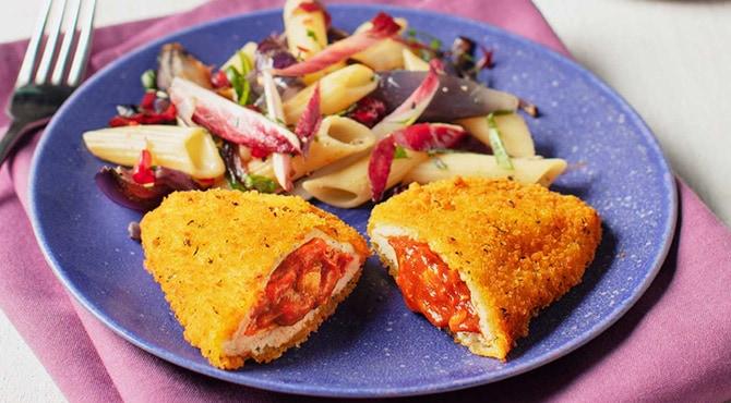 Valess Valess Tomate-Mozzarella mit Pasta und karamellisierten Zwiebeln